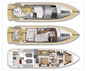яхта Galeon 640 схема