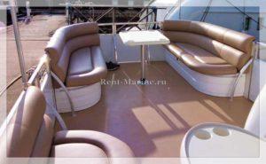Понтонный катер Медуза салон